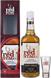 Jim Beam Red Stag s pohárom