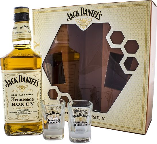 Jack Daniel's Honey s 2 pohármi